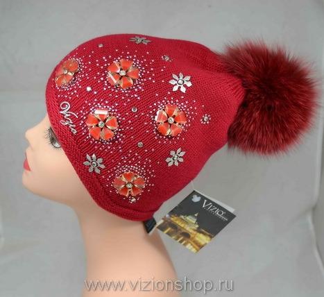 Женские шапки с помпоном распродажа в интернет магазине женских шапок  vizionshop.ru 4776cf18ada1e